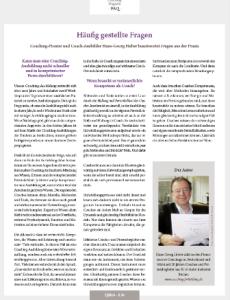 Ein Artikel von Hans-Georg Huber im Coaching-Magazin