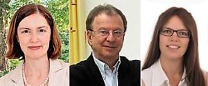 Die Senior-Trainer und Coaches im Coachingbüro: Barbara Hofmann-Huber, Hans-Georg Huber, Friederike Anslinger-Wolf