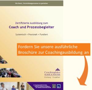 Coaching Ausbildung: Broschüre Coachingbüro Freiburg anfordern.