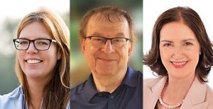 Die Senior-Trainer und Coaches im Coachingbüro: Friederike Anslinger-Wolf, Hans-Georg Huber, Barbara Hofmann-Huber